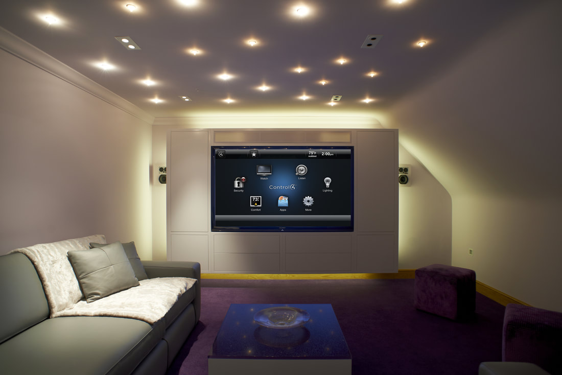 Home Theater With Control4 We Are More Maui, Hawaii