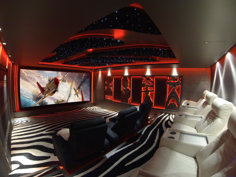 Luxury Home Theater with Triad Speaker Sound System